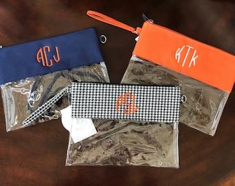 Gameday purse, clutch, wristlet, crossbody, monogrammed