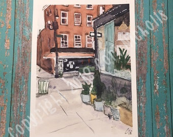 Somewhere in NYC - Original Watercolour and Ink Painting by Cori Nicholls