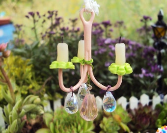 Fairy Garden Chandelier, Miniature Chandelier, Miniature Garden, Faerie Garden, Whimsical Chandelier