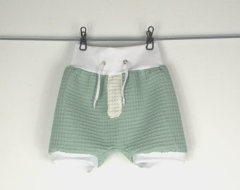 Bloomers Bubble Shorts, short Trousere, Baby Trousers Summer Boy Girl Outfit, Cotton, Loop