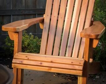 Traditional California Redwood Adirondack Chair