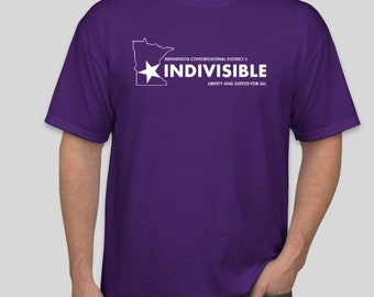 """Men's Indivisible """"Be a voter"""" tee"""