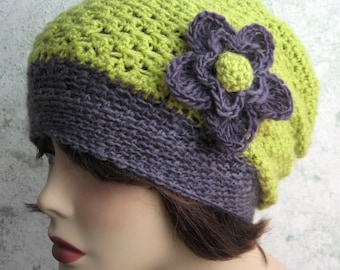 Digital Download Womens Crochet Hat Pattern Slouchy Style With Flower  Trim May Sell Finished