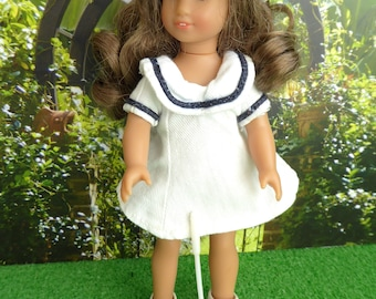VINTAGE TENNIS OUTFIT - dress and visor for 7-8in/17-20cm dolls like Betsy McCall, Lottie, Mini American Girl, Miss Amanda Jane, Ginny,