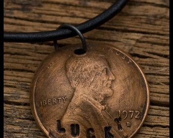 Lucky Penny - sterling silver and copper hand-hammered pendant necklace