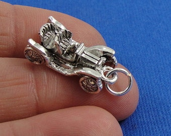 Antique Car Charm - Silver Antique Classic Car Charm for Necklace or Bracelet