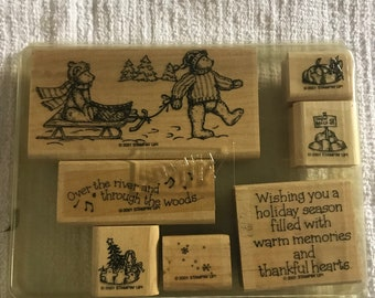 STAMPIN UP! Retired Over The River-2001 Christmas