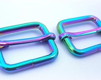 Rainbow adjustable sliders. Pack of 2