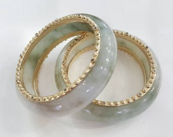 Jade bangles made in Silver925