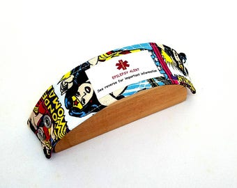 Kids Medical Alert Bracelet Child ID Bracelet Allergy Alert Clothing Autism Safety ID Wonder Woman