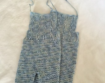 Crochet photo prop boys sitter outfit, 3-6 month
