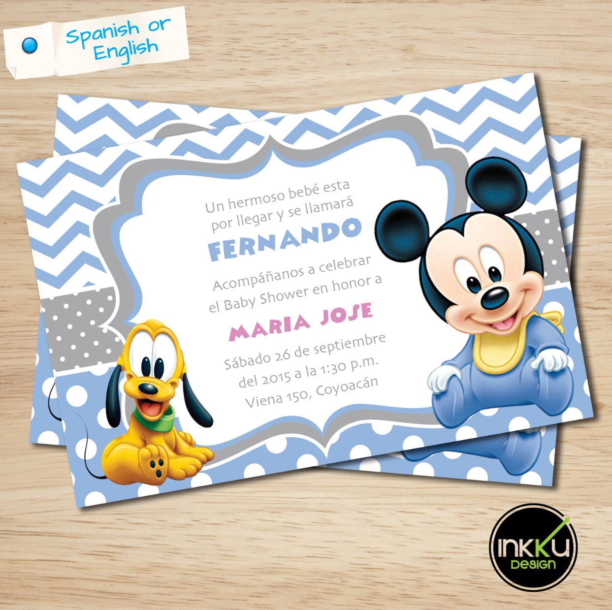 Mickey mouse baby shower invite mickey mouse baby shower zoom filmwisefo