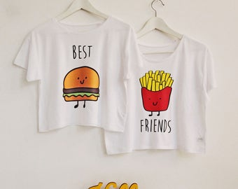 Best Friends SET of crop top t-shirts