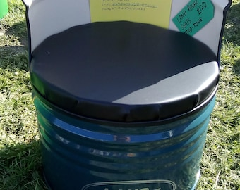 Indoor Seat Made From Recycled Oil Drum