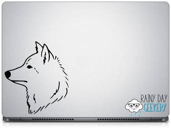 Majestic Wolf  Head Vinyl Decal - Gray Wolf - White Wolf - Wildlife Vinyl Decal - Dog vinyl decal - Choose your Size and Color