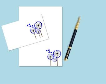 Seed plant Letter Set, printable stationary, printable stationery, printable letter paper, downloadable stationary, downloadable stationery