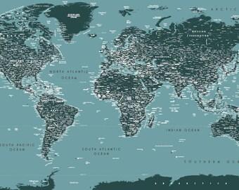Art-Deco World Map