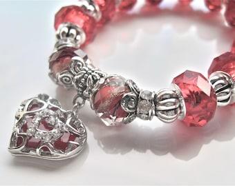 """Heart Bracelet  """" Lady valentine """""""