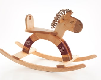 Wooden Rocking Horse, Wooden Rocking Toy, Wooden Horse Toy, Ride On Toy