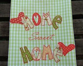 Home Sweet Home Kitchen Towel HOME Tea Towel Heart of the Home Dish Towel Farmhouse Kitchen Decor | Sweet Home Hand Towel | Heart Hearts