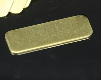 20 pcs Raw Brass 10x30 mm rectangle tag 2 hole thickness 0,85 mm 20 gauge connector charms ,Findings 716RW-38