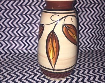 West Germany vase with leaf motif