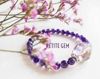 Amethyst and Ametrine crystal bracelet