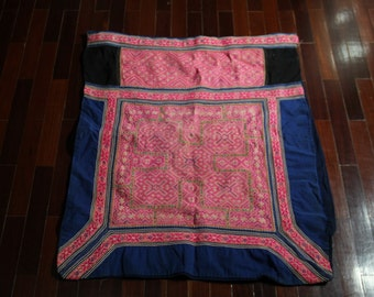 Vintage Hmong fabric from  Hmong baby carriers.