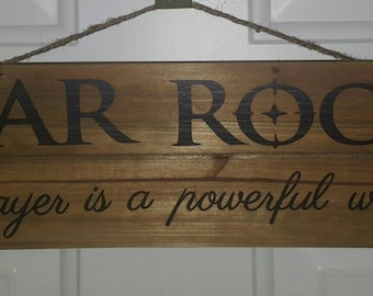 War Room Prayer Is A Powerful Weapon Wood Sign