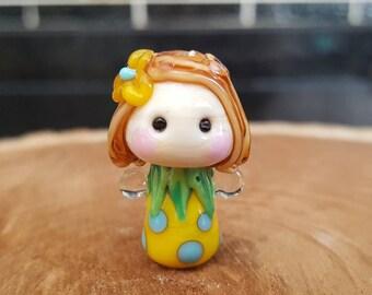 Little Spring Angel Fairy Lampwork Bead