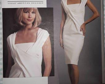 Vogue Donna Karan Dress Sewing Pattern 1087, Uncut, American Designer, Misses' Sizes 4, 6, 8, 10