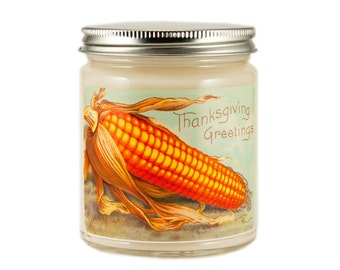 Thanksgiving Candle, Hostess Gift, Vintage Candle, Container Candle, Soy Candle, Vintage Thanksgiving Candle, Holiday Candle,