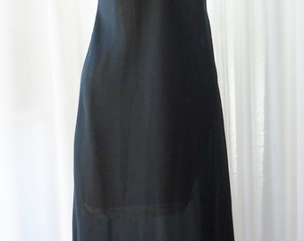 Dress Lace Extender Crepe Underdress Black Five Inch Lace Size 34