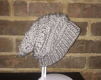Double crossed Slouchy hat