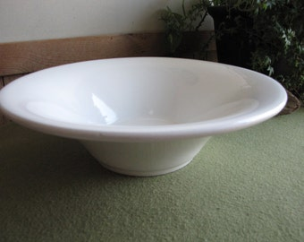 White Ceramic Bowl Centerpiece Or Coffee Table Ceramica Varma Made in Italy Vintage Home Decor Italian Pottery Dish