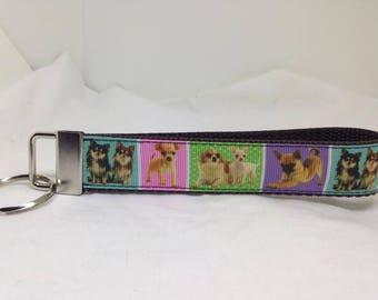 Chihuahuas - Custom Handmade Keychain, Wristlet