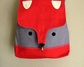 RED Fox Backpack ON SALE Laptop Padded Backpack Vegan Fabric Travelling Backpack Kawaii Kitsch Harajuku Backpack Bag Women Men Teen Backpack