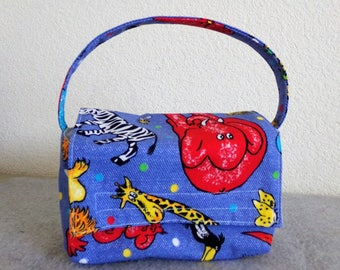Kid's Insulated Lunch Bag - Zoo Animals