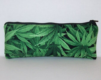"""Pipe Pouch, Cannabis Bag, Pipe Case, Glass Pipe Bag, Marijuana, Padded Pipe Pouch, Pipe Cozy, 420, Pothead, Weed, Stoner Gifts - 7.5"""" LARGE"""