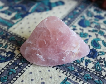 SALE - Semi polished rose quartz chunk