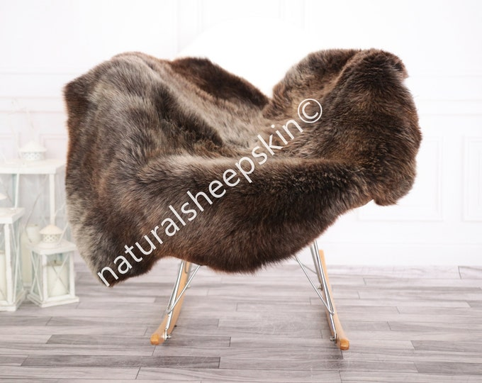 Sheepskin Rug | Real Sheepskin Rug | Shaggy Rug | Chair Cover | Sheepskin Throw | Brown Sheepskin | Home Decor | #febher66