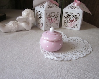 Box pink tooth, pill box ring for mother's day box