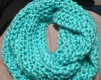 Cozy, fluffy, warm infinity scarf!