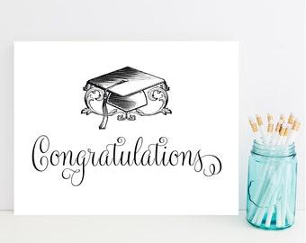 Graduation Card - Graduation Congratulations Card - Fast Graduation Card
