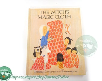 The Witch's Magic Cloth: Vintage Japanese Story 1960s Hardcover Book