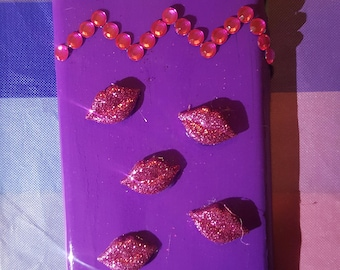 Sealed with a Kiss-Purple Phone Case