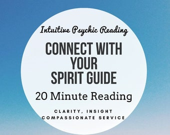 Connect with your Spirit Guides Tarot Reading, Oracle Card Reading [AUDIO FILE] - 20 Minute Psychic Reading, 1 Spirit Guide, Clairvoyant
