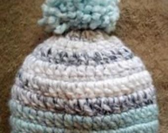 Handmade crochet baby toque