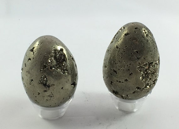 PYRITE EGGS// Carved Pyrite Egg// Healing Gemstone// Fools Good// Pyrite// Home Decor// Healing Tools// Raw Healing Crystals// From Peru
