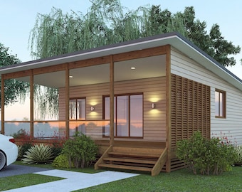 2 Bedrooms + 2 bathroom Granny Flat House plans for sale